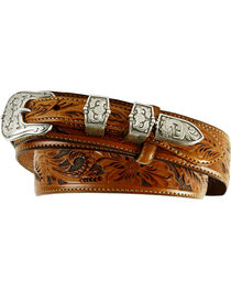 Tony Lama Tooled Leather Ranger Belt, , hi-res
