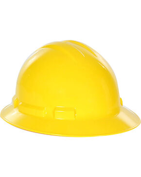 Radians Yellow Quartz Full Brim Hard Hats , Yellow, hi-res
