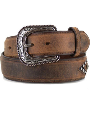 Cody James® Men's Western Concho Belt, Tan, hi-res