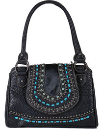 Shyanne® Women's Embroidered Hair-on Leather Handbag, , hi-res