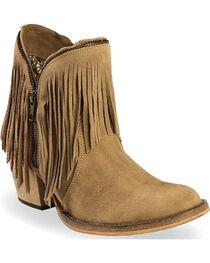 Dingo Women's JuJu Fringe Zip Booties, , hi-res
