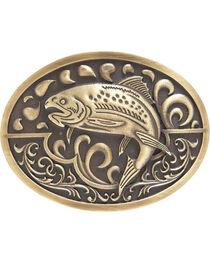 AndWest Men's Antique Bronze Fishing Belt Buckle, , hi-res