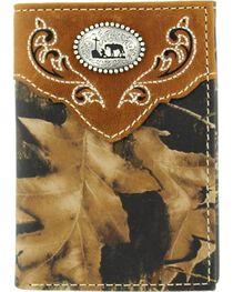 Nocona Mossy Oak Cowboy Prayer Concho Tri-fold Wallet, , hi-res
