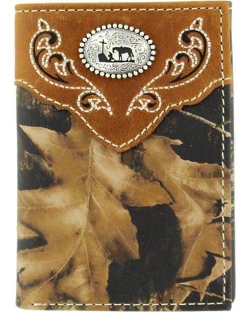 Nocona Mossy Oak Cowboy Prayer Concho Tri-fold Wallet, Mossy Oak, hi-res