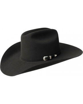 Bailey Men's Courtright 7X Fur Felt Cowboy Hat, Black, hi-res