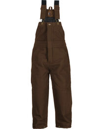 Berne Kids' Bark Washed Insulated Bib Overalls, , hi-res