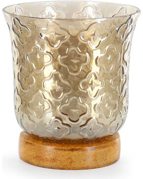 BB Ranch® Pattern Candle Holder, Brown, hi-res
