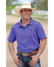 Cinch Men's Purple Arenaflex Short Sleeve Polo, , hi-res