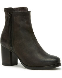 Frye Women's Charcoal Addie Double Zip Boots - Round Toe , , hi-res