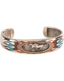Silver Legends Women's Opal Running Horse Bracelet , , hi-res