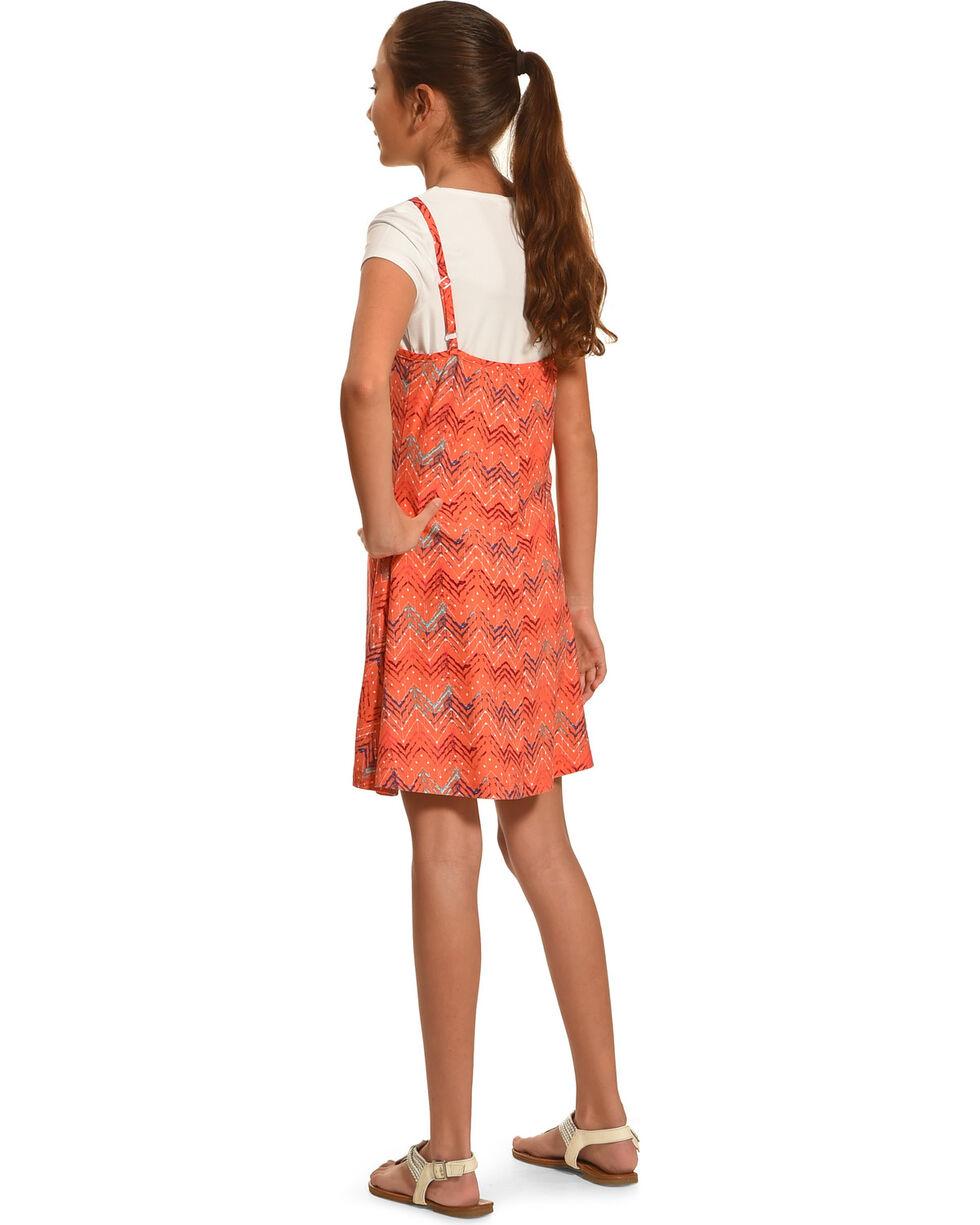 Derek Heart Girls' Chevron Print 2 Piece Dress Set, White, hi-res