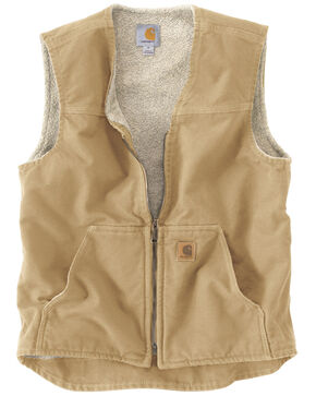 Carhartt Men's Rugged Vest, Brown, hi-res