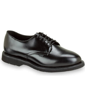 Thorogood Men's Postal Certified Classic Leather Uniform Oxfords, Black, hi-res