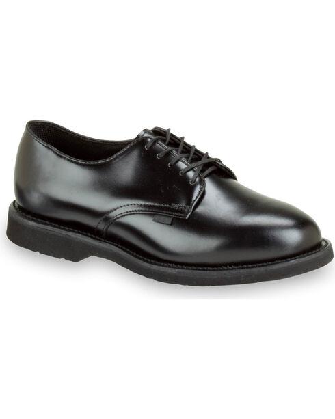 Thorogood Men's Postal Certified Classic Leather Uniform Oxfords, Black, hi-res