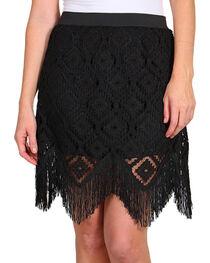 Rock 47 by Wrangler Women's Fringe & Crochet Skirt, , hi-res