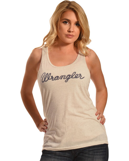 Wrangler Women's Logo Tank Top, Natural, hi-res