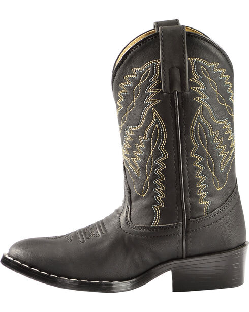 Swift Creek Boys' Black Cowboy Boots - Round Toe, Black, hi-res