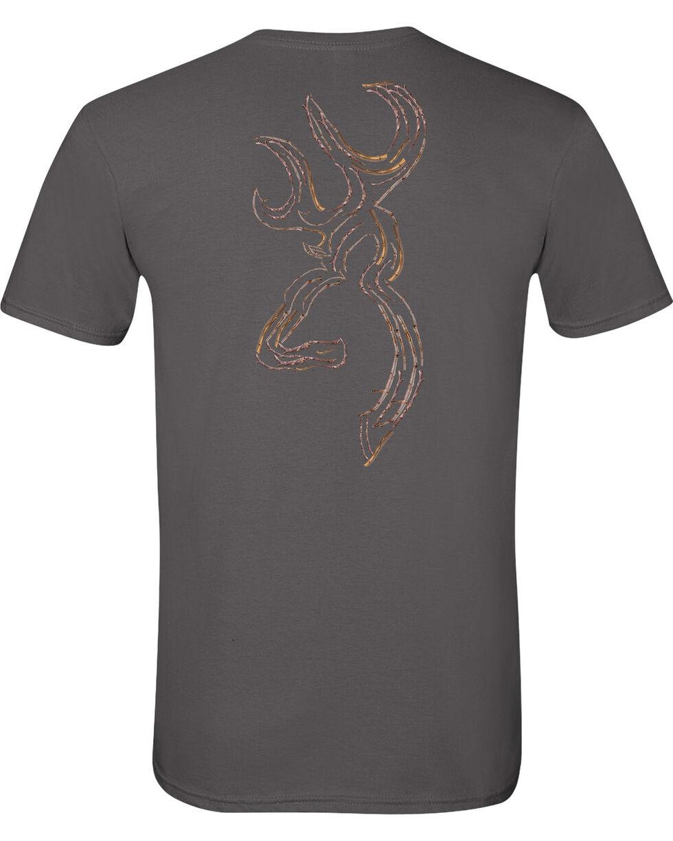 Browning Men's Twig Buckmark Charcoal Short Sleeve Tee, Charcoal Grey, hi-res