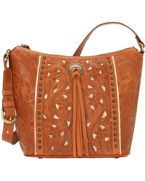 American West Women's Hill Country Tote Bag , Tan, hi-res