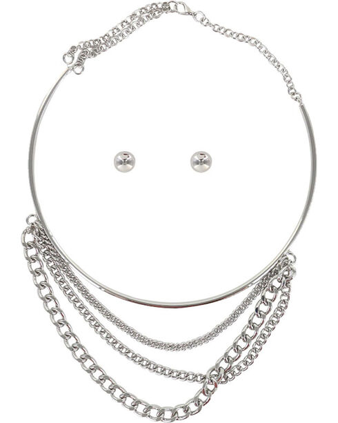 Shyanne® Women's Layered Chain Jewelry Set, Silver, hi-res