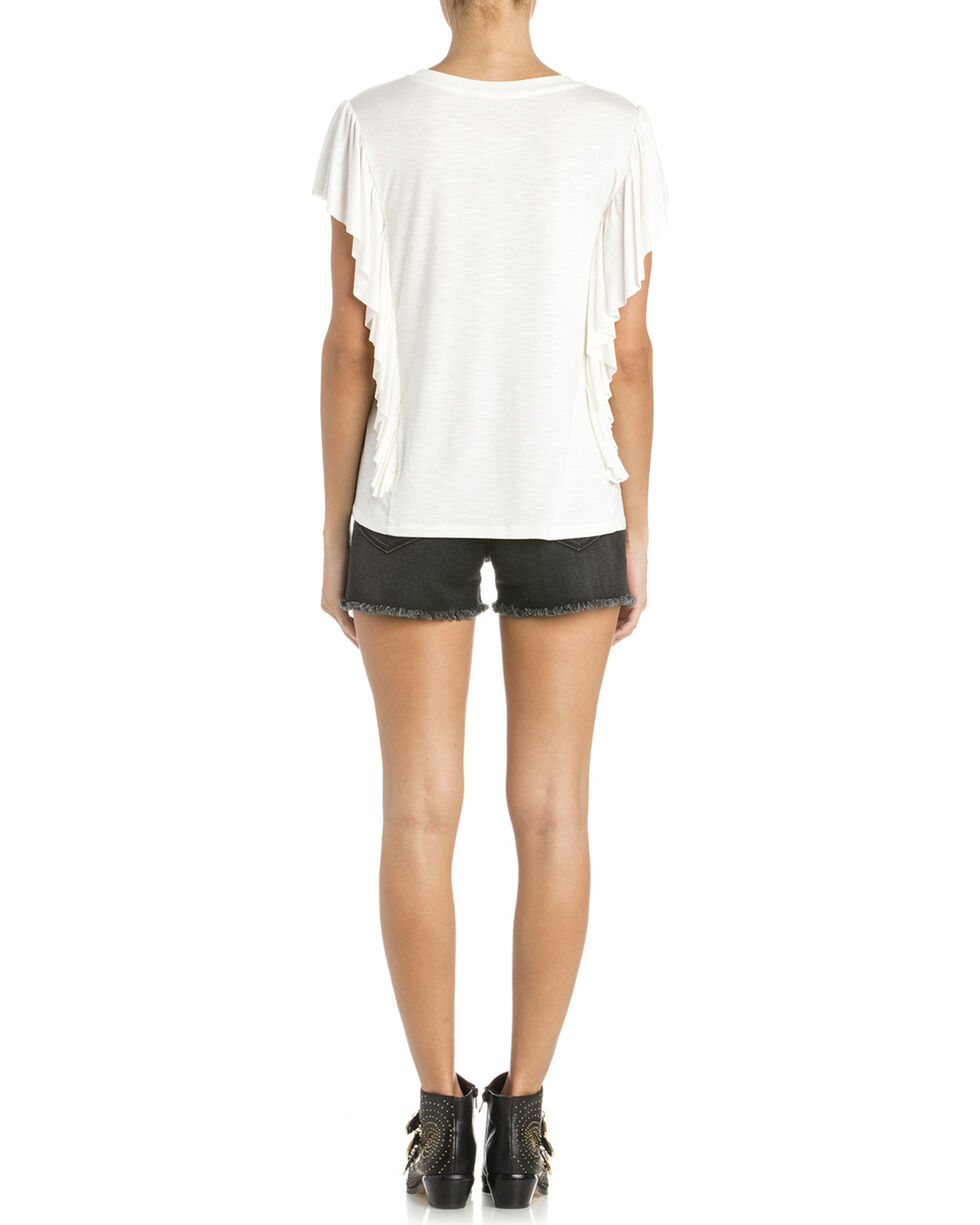 Miss Me Women's Soft Touch Top, White, hi-res