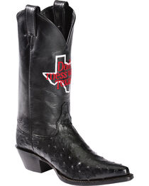"Justin Women's ""Don't Mess With Texas"" Full Quill Ostrich Exotic Boots, , hi-res"