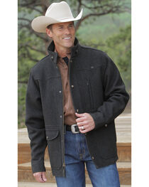 Miller Ranch Charcoal Melton Wool Riding Coat, Charcoal Grey, hi-res