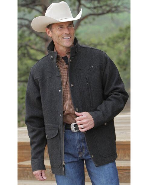 Miller Ranch Charcoal Melton Wool Riding Coat, , hi-res