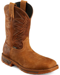Red Wing Irish Setter Men's Brown Marshall Work Boots - Steel Toe , Brown, hi-res