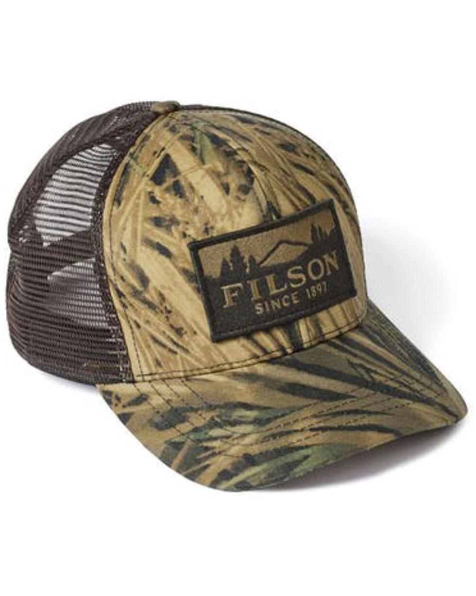 Filson Men's Mossy Oak Camo Logger Mesh Trucker Hat, Camouflage, hi-res