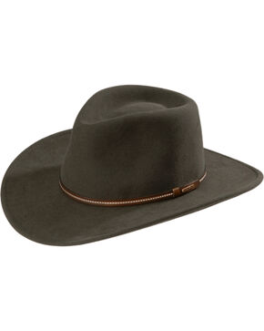 Stetson Gallatin Crushable Wool Hat, Sage, hi-res