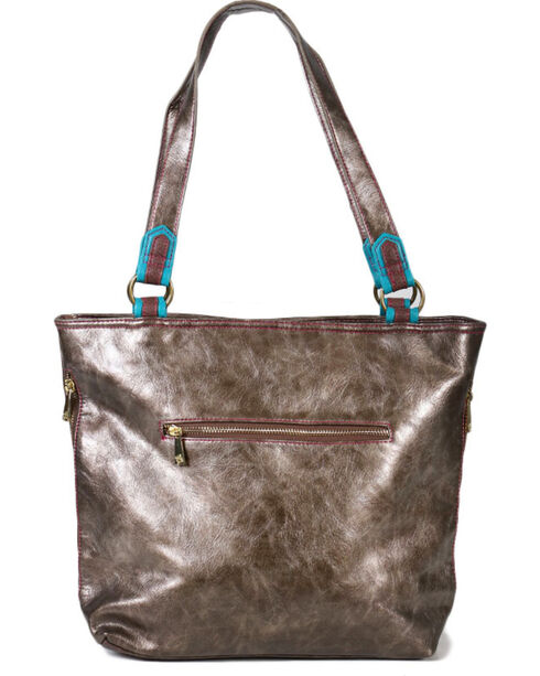 Trenditions Women's Sunburst Tote, Brown, hi-res