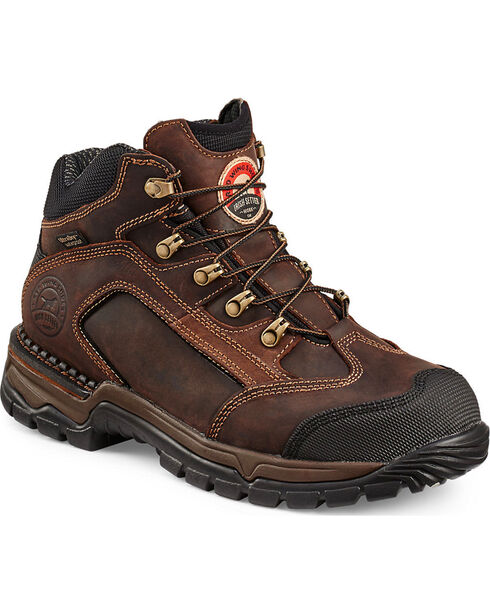 Irish Setter by Red Wing Shoes Men's Two Harbors Lace-Up Hiker Work Boots - Steel Toe , Brown, hi-res