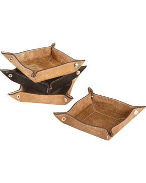BB Ranch Cowhide Catch All Tray, Tan, hi-res