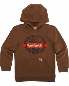 Carhartt Boys' Big Game Excursion Sweatshirt, Brown, hi-res