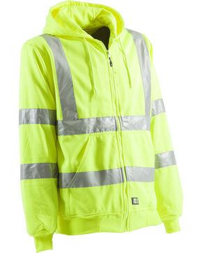 Berne Hi-Visibility Lined Hooded Sweatshirt, Yellow, hi-res