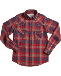 Ryan Michael Crimson Plaid Long Sleeve Shirt, , hi-res