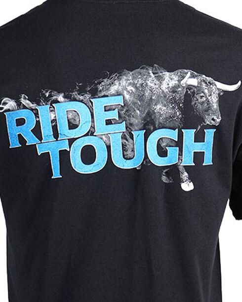 Cowboy Up Men's Black Ride Tough Short Sleeve Tee , Black, hi-res