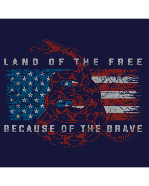 "Buckwear Men's ""Land of the Free"" Tee, Navy, hi-res"