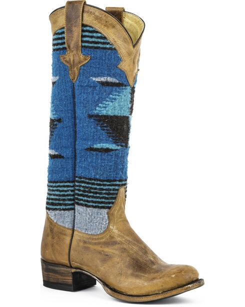 "Stetson Women's 15"" Tahoe Aztec Western Boots, Tan, hi-res"
