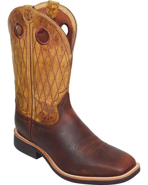 """Twisted X Men's Top Hand 11"""" Western Boots, Copper, hi-res"""
