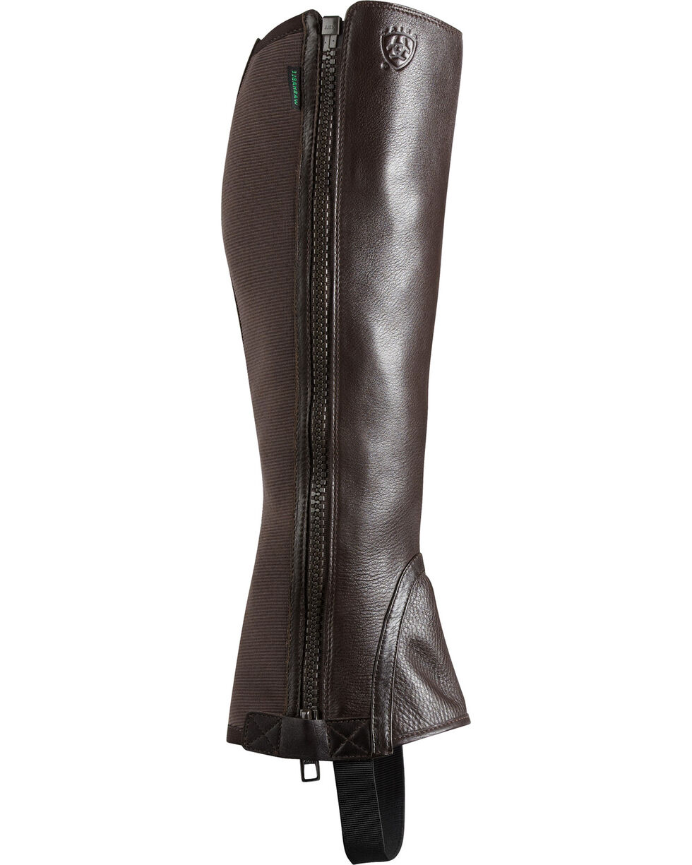 Ariat Unisex Breeze Half Chaps, Chocolate, hi-res