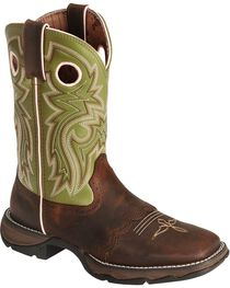 Durango Green Flirt Saddle Cowgirl Boots - Square Toe, Bay Apache, hi-res