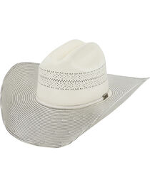 Larry Mahan Men's 10X Grey Cinch Straw Cowboy Hat, , hi-res