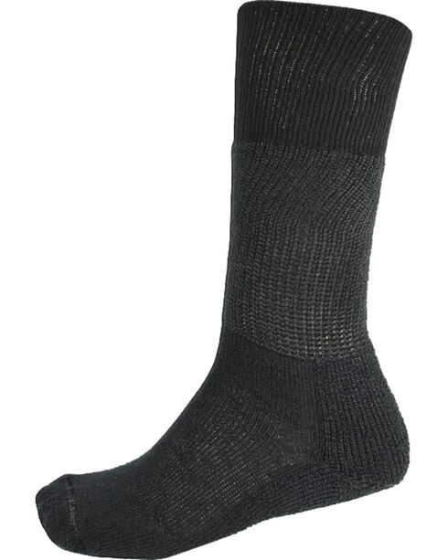 Thorlo Men's 1-Pair Over the Calf Western Dress Socks, Black, hi-res