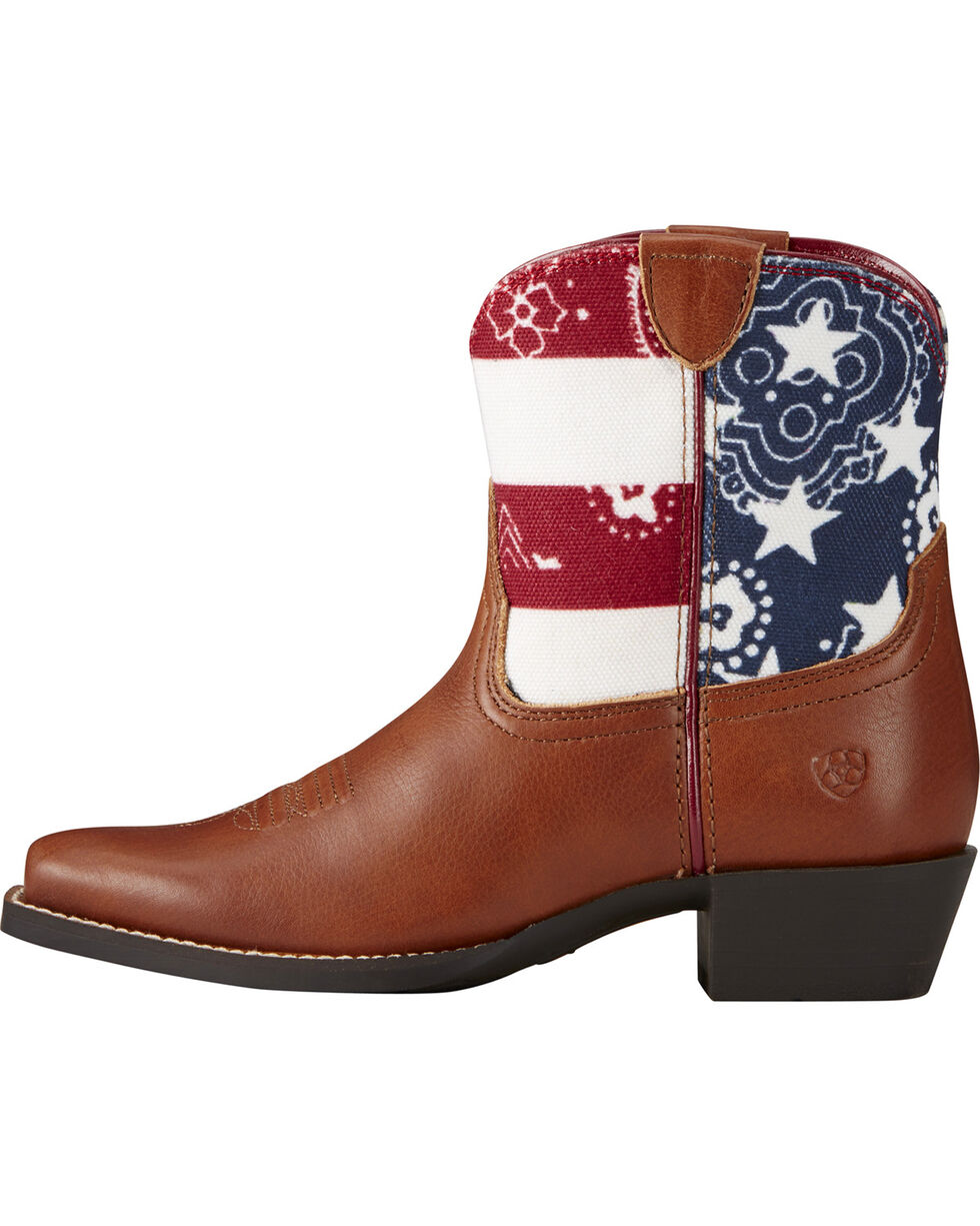 Ariat Kids' July Western Boots, Brown, hi-res