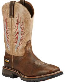 Ariat Brown Workhog Mesteno II Western Work Boots, , hi-res
