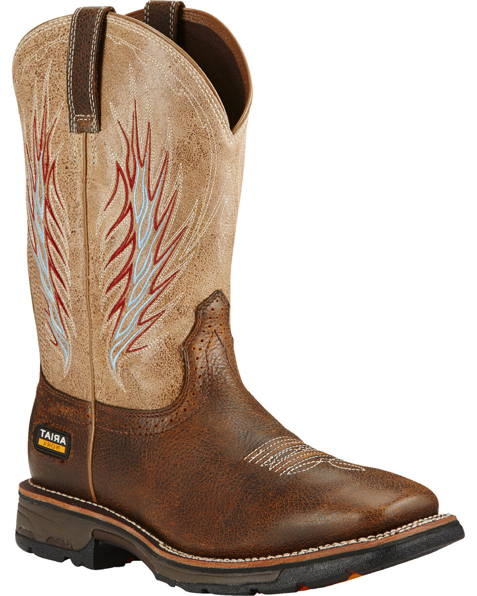 Ariat Men's Rustic Workhog Mesteno II Comp Toe Work Boots, Brown, hi-res