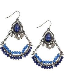 Shyanne® Women's Blue Chandelier Earrings, , hi-res