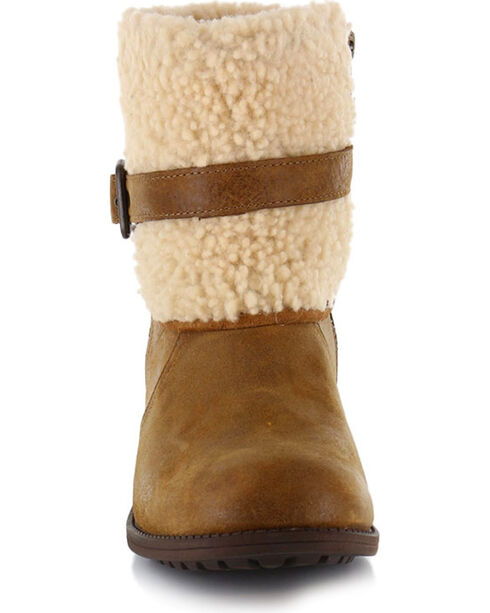UGG Women's Brown Blayre II Short Boots - Round Toe , Brown, hi-res